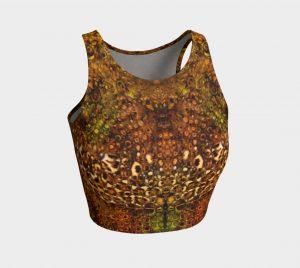 Leopard Flower Athletic Crop Top