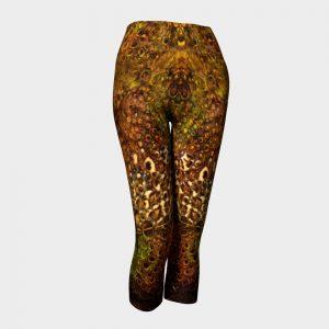 leopard flower capri pants