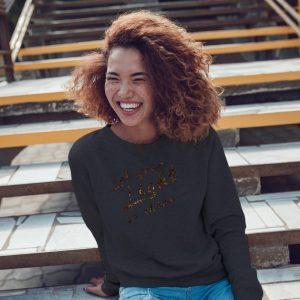 let your light so shine leopard crewneck sweatshirt