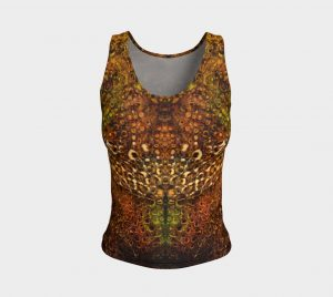 leopard fitted tank top