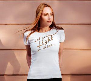 let your light so shine luminous tee shirt