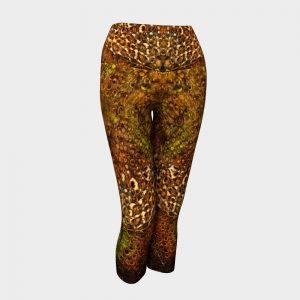 leopard yoga capri pants